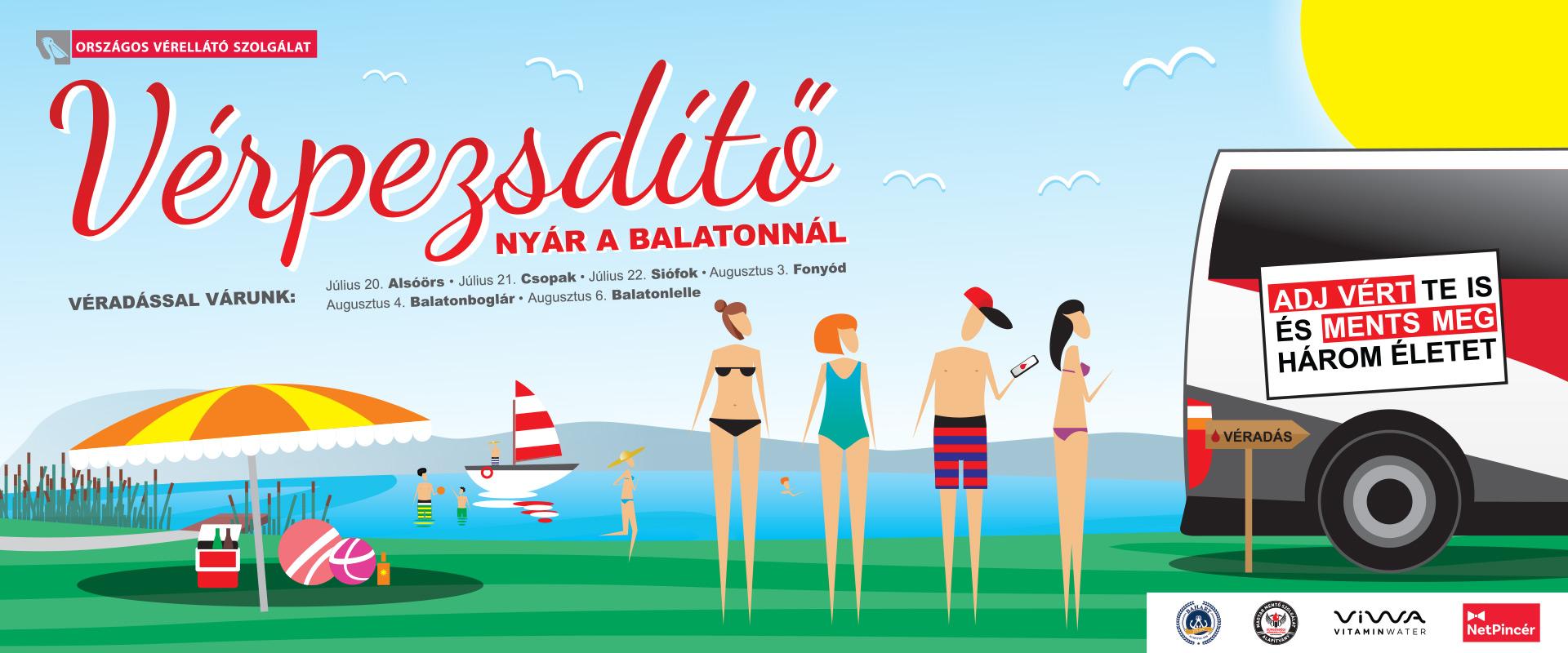 VÉRpezsdítő nyár a Balatonnál